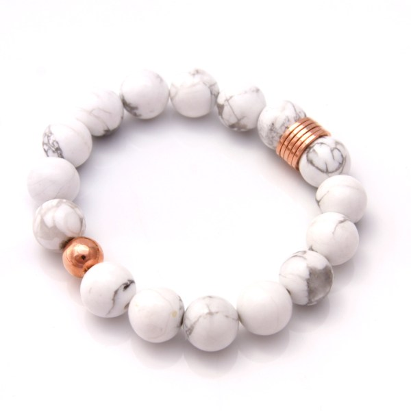 rose gold white howlite bracelet