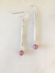 silver stick earrings