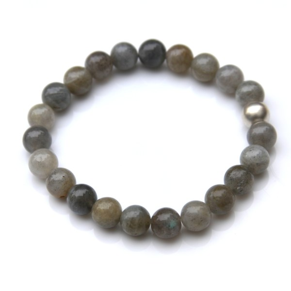 simple labradorite bracelet