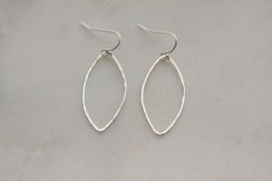 hammered sterling silver earrings