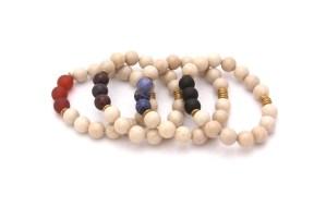 gemstone bracelets - fossil jasper