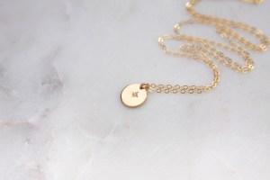 gold shining star necklace - handmade