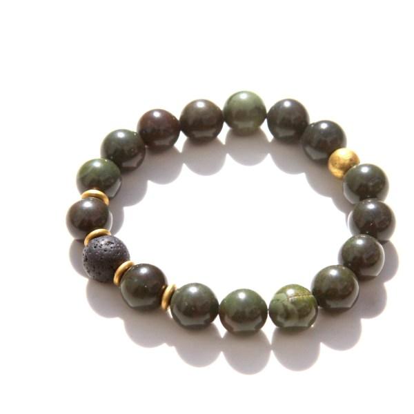 handmade African green jasper bracelet