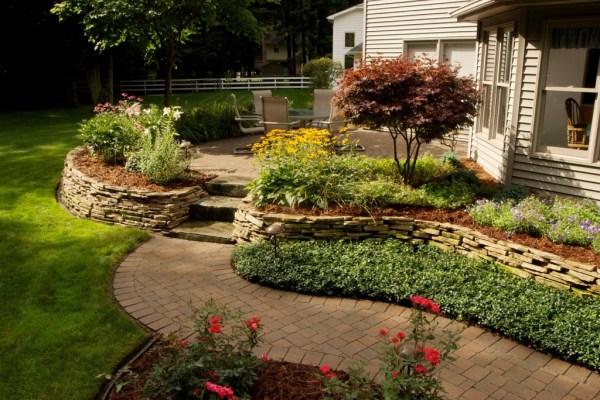raised brick paver patios