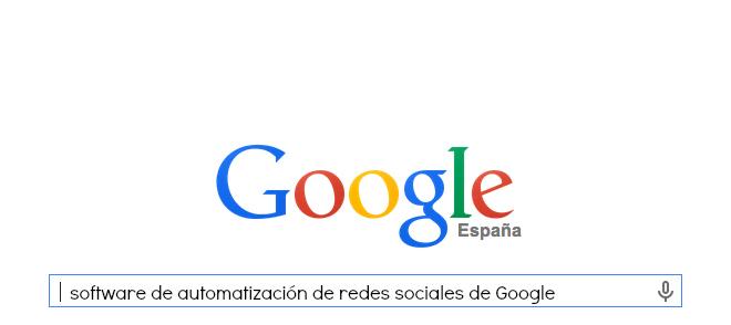 software de automatización de redes sociales de Google