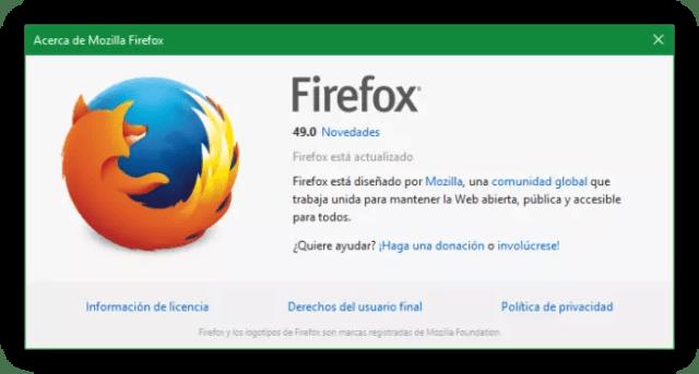 Mozilla ©Firefox 49