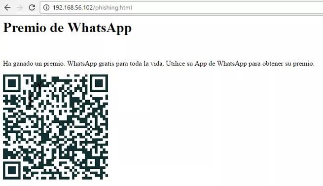 Código QR WhatsApp Falso