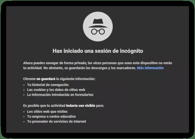 Modo Incógnito Google Chrome 60