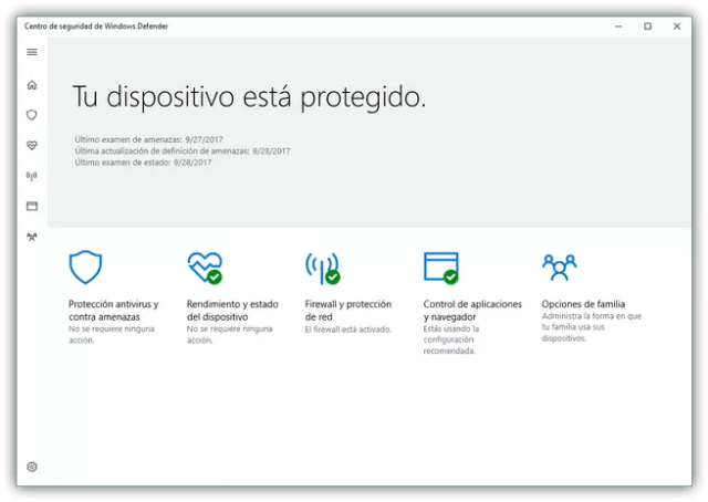 Suite Windows Proteger en Windows 10