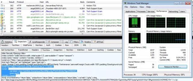 coinhive minado de monedas con el navegador web del usuario
