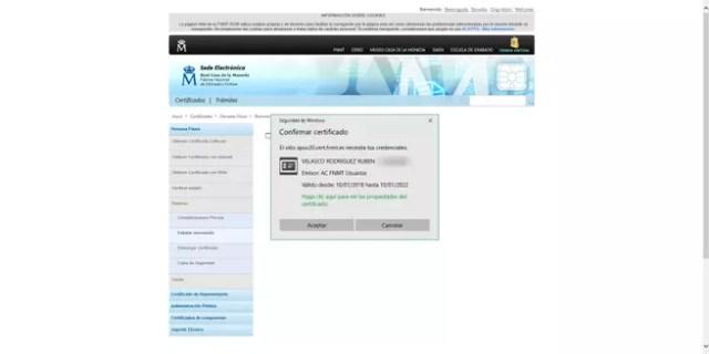 Cargar certificado innovar FNMT