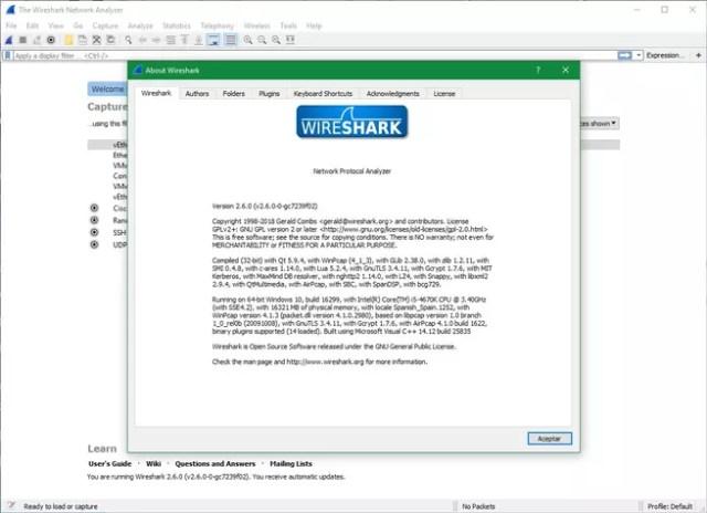 Wireshark 2.6