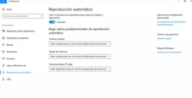 Cómo deshabilitar el AutoPlay en ©Windows 10