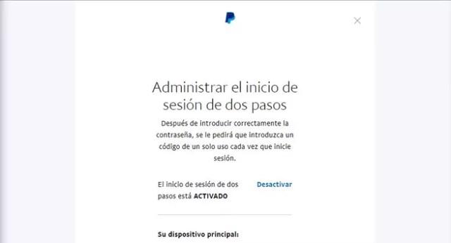 PayPal - Activar ©Google Authenticator 2