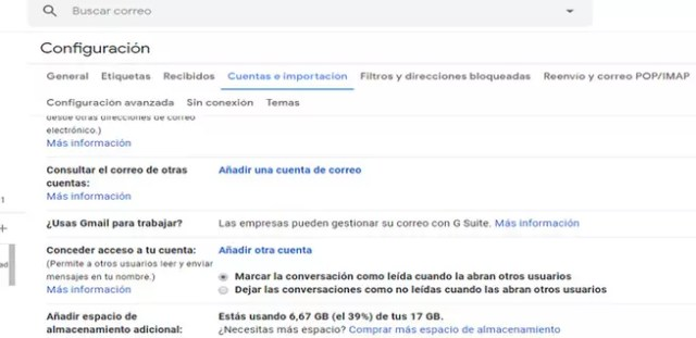 Agregar nuevas cuentas de email a Gmail