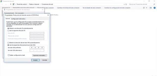 Obtener dirección IP automáticamente