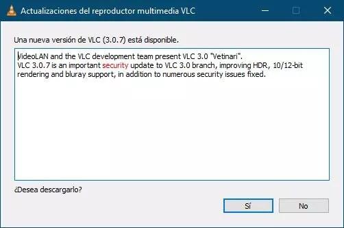 Actualizar VLC 3.0.7