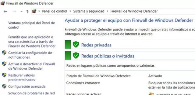 Permitir aplicación en ©Windows Firewall