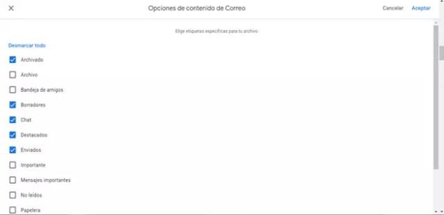 Seleccionar asunto de Gmail