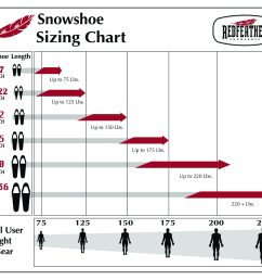 if you are planning on snowshoeing on trails or older more packed snow and you are close in weight to the next size down you can certainly use the smaller  [ 2688 x 2304 Pixel ]