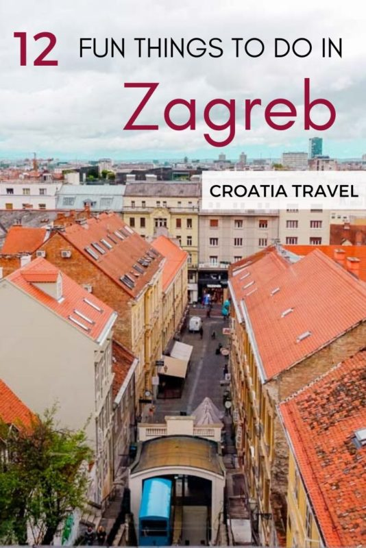Considering visiting Croatia's capital? Read the post where we talk about top things to do in Zagreb that are FREE.