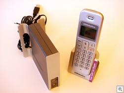 Usrcordlessskypephonehandsetbase