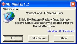 winsockxpfix small WinSock XP Fix   freeware fix for broken WiFi connections