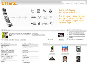 utterz small Utterz   simultaneously post video, audio, text and images to multiple social sites
