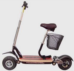 Hoverboard with Seat and Basket – scoot your way out of the peak oil controversy