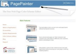 PagePainter – the free web page color scheme editor