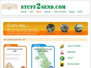 stuff2send small Stuff2Send   worlds first P2P parcel courier service