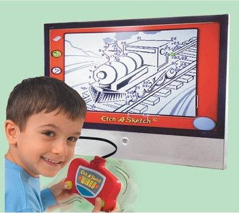 Deluxe TV Etch A Sketch – just like a normal etch a sketch but bigger!