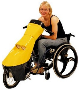 speedyelectra small Speedy Electra   electric power drive for that wheelchair