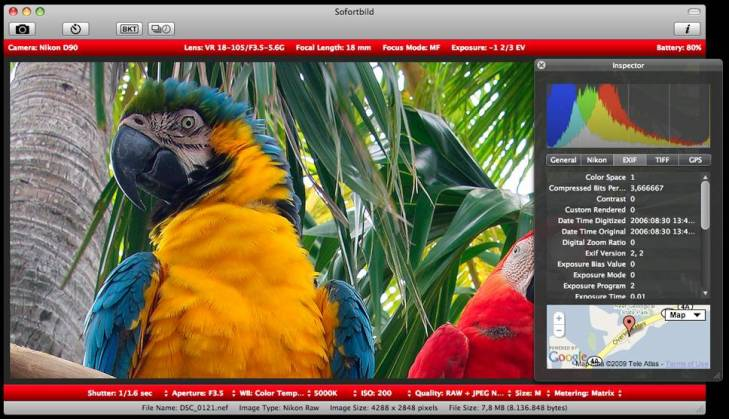 Sofortbild – Control your Nikon with your Mac