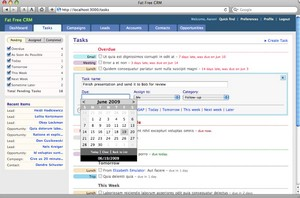 fatfreecrm small Fat Free CRM   cool open source customer management tool