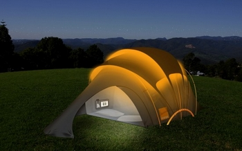 Orange Solar Tent – if you go down to the woods today…