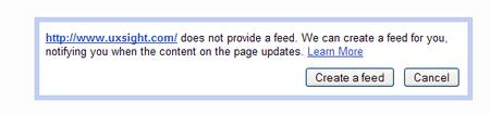 Google Reader now tracks RSS-free websites