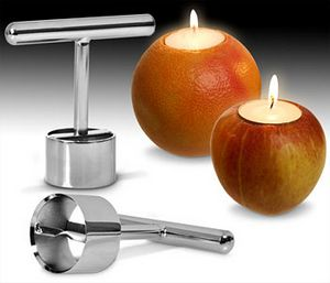 Candle Carver – Turns fruit into candles, what could go wrong