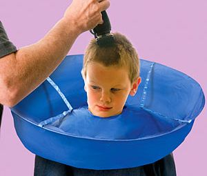 Haircut Umbrella – No more itchy and scratchy