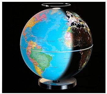 City Lights Globe – Watch the world go from day to night