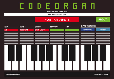 Codeorgan – Turns a website into music