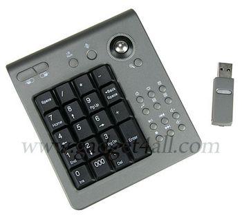 Wireless Numeric Keypad with Track Ball – Stylish netbook addition