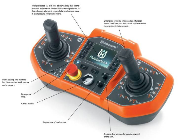 Husqvarna DXR 310 – Awesome remote controlled demolition robot