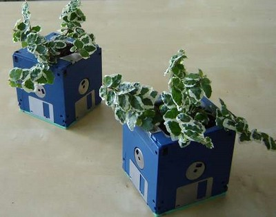 Floppy Disk Planter – 1.4MB of recycled green goodness