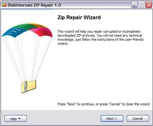 ziprepair small Zip Repair   freeware helps you recover corrupted zip files