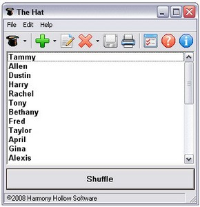 thehat small The Hat   super cool freeware utility for picking a name from a hat