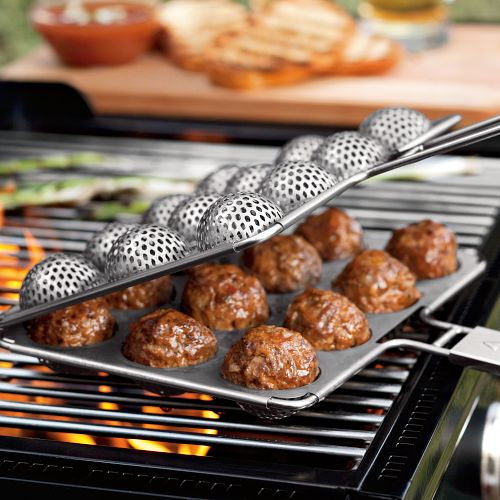 Meatball Grill Basket – cook your meatballs the grill pro way