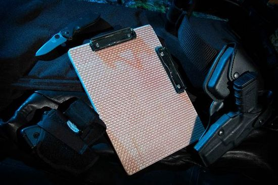 Bulletproof Clipboards protect your documents from projectiles