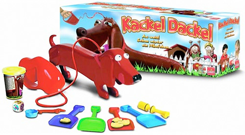 Kackel Dackel is the strange game where you pick up dog poo
