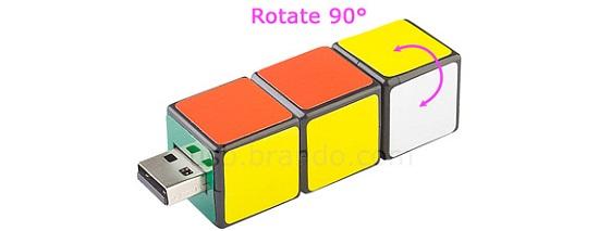 Mini IQ Cube Flash Drive has a familiar look to it